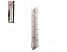 Teploměr hliník pokojový/venkovní 24cm