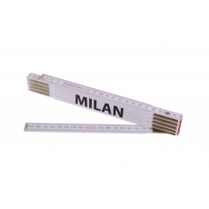 Metr skládací 2m MILAN (PROFI, bílý, dřevo)