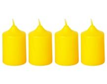 Svíčka adventní 40x60 mm - žlutá (4ks)