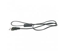 Flexo šňůra PVC 2× 0,75mm2 s vypínačem, 3m, černá