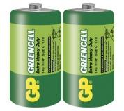 Zinková baterie GP Greencell C (R14) - 2ks