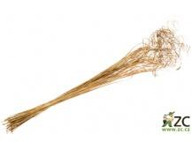 Dekorace - Svazek curly ting ting - 100 g zlatý