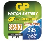 Knoflíková baterie do hodinek GP 395F (SR57, SR927) - 10ks
