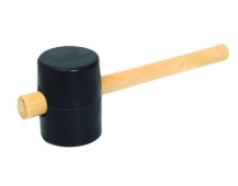 Palice gumová 65mm 34cm dřevo