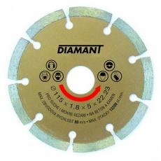 Kotouč diamantový DIAMANT 115x22. 2x2mm segment