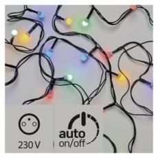 LED vánoční cherry řetěz – kuličky, 30m, multicolor, časovač