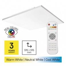 LED přisazené svítidlo EXCLUSIVE, čtvercové 36W frameless, stmív. se změnou CCT, CRI>95