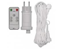 Napájecí zdroj s DO s bílým prodlužovacím kabelem 10m