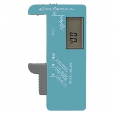 Univerzální tester baterií (AA, AAA, C, D, 9V, knoflíkových)
