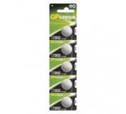 Výhodné balení lithiové knoflíkové baterie GP CR2032 - 5ks