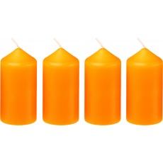 Svíčka adventní 40x75 mm - oranžová (4ks)