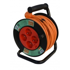 Kabel prodlužovací navíjecí 50m 4zásuvky IP20