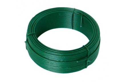 Vázací drát 1. 4mmx50M zelený PVC