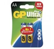 Alkalická baterie GP Ultra Plus AA (LR6) - 2ks