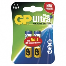 Alkalická baterie GP Ultra Plus AA (LR6) - 2ks