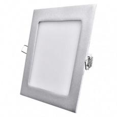 LED panel 170×170, čtvercový vestavný stříbrný, 12W neutr.b.