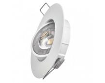 LED bodové svítidlo Exclusive bílé, kruh 5W neutrální bílá