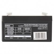 Bezúdržbový olověný akumulátor 6 V/1,3 Ah, faston 4,7 mm