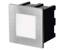 LED orientační vestavné svítidlo 80×80, 1,5W teplá bílá,IP65