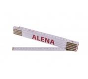 Metr skládací 2m ALENA (PROFI, bílý, dřevo)