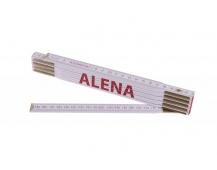 Skládací 2m ALENA (PROFI, bílý, dřevo)