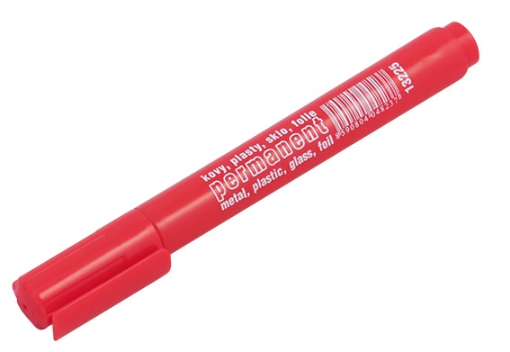 Permanentní značkovač(fix)-červený