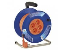 PVC prodlužovací kabel na bubnu – 4 zásuvky, 25m, 1mm2