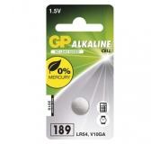 Alkalická knoflíková baterie GP 189F (LR54)