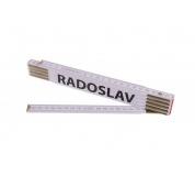Skládací 2m RADOSLAV (PROFI, bílý, dřevo)