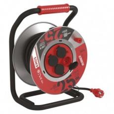 Guma-guma prodluž. kabel, buben kovový – 4z, 25m, 1,5mm2