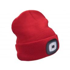 Čepice s čelovkou 45Im, nabíjecí, USB, červená