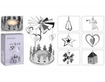 Andělské zvonění stříbrné na čaj. svíčku mix