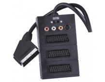 AV kabel SCART - 3x SCART + 3x CINCH + 1x SVHS 0,5m