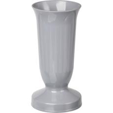 Váza hřbitovní kalich šedá - těžké dno