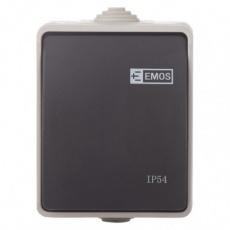 Přepínač nástěnný č. 1,6 IP54, 1 tlačítko