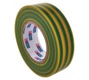 Izolační páska PVC 19mm / 20m zelenožlutá - 10ks