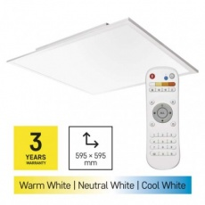 LED přisazené svítidlo EXCLUSIVE, čtvercové 40W, stmív. se změnou CCT