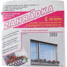 Zahrádka okenní 75 cm - bílá