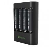 USB nabíječka baterií GP U421 + 4× AA GP ReCyko+ Pro