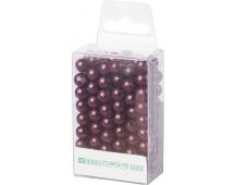 Dekorační perly - 8 mm (144 ks) tmavě fialové