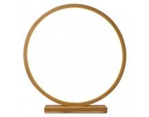 LED dekorace – kruh dřevěný, vnitřní, teplá bílá