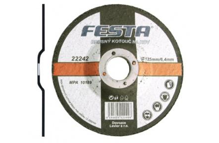Kotouč brusný kov 125x6. 4x22. 2 FESTA