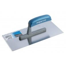 Hladítko FESTA nerez dřevěná rukojeť 280x130mm zub e4
