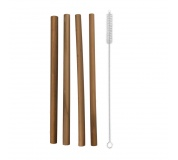 Brčko bambus nápojové 4ks 20cm+kartáček
