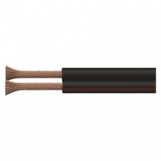 Dvojlinka nestíněná 2x0,35mm černo/rudá, 100m - 100m