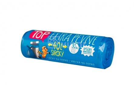 Sáček do koše s páskou HDPE 40l modré