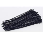 Vázací pásky 120x2. 5mm 50ks černá