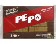 PE-PO podpalovač dřevěný - 40 podpalů