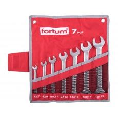 Klíče ploché sada 7ks 6-19mm Fortum