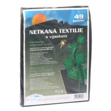 Neotex / netkaná textilie výsek černý 45g - okurky šíře 0,8 x 10 m